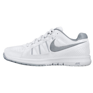 NIKE WOMENS AIR VAPOR ACE TENNIS SHOES WH/GY