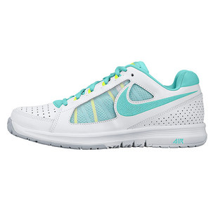 NIKE WOMENS AIR VAPOR ACE TENNIS SHOES WH/VLT