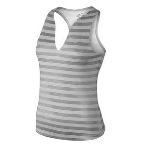 Women`s Stripe Pure Tennis Tank White