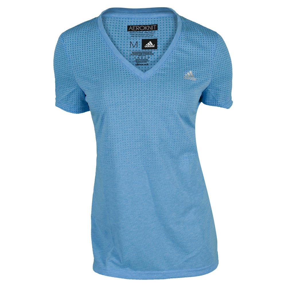 Women`s Aeroknit Climacool Tennis Tee Lucky Blue