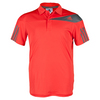 ADIDAS Boys` Response Traditional Tennis Polo Bright Red