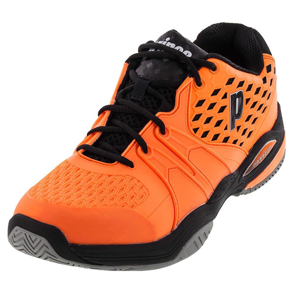Prince Men`s Warrior Tennis Shoes Orange and Black | eBay