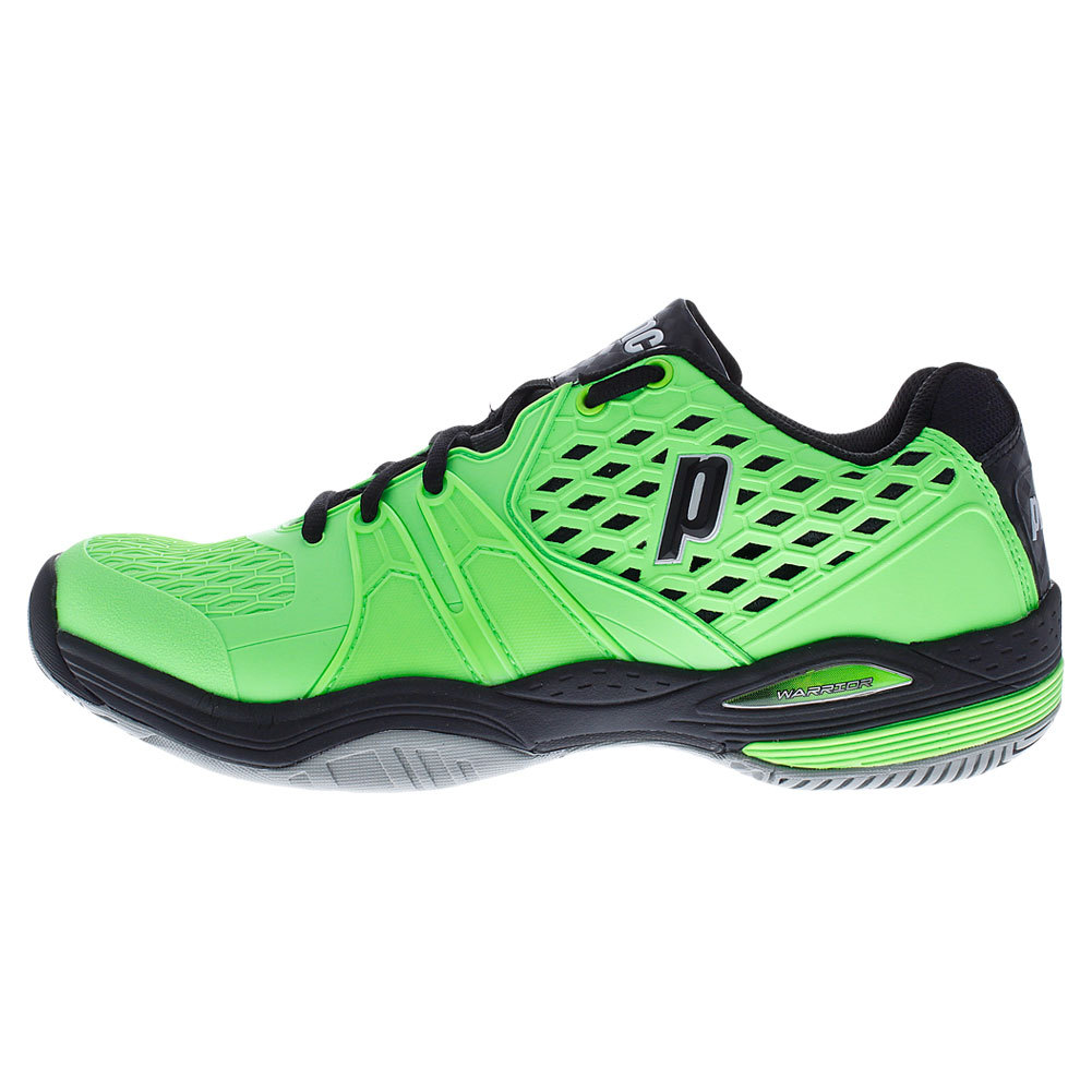 prince s warrior tennis shoes green and black ebay