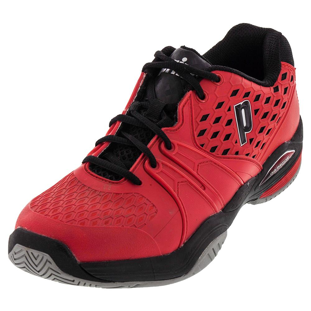 Tennis Express | PRINCE Men`s Warrior Tennis Shoes Red and Black