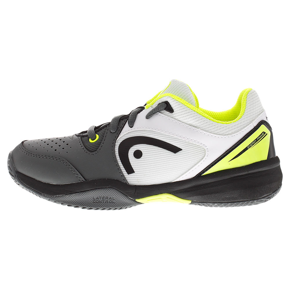 juniors revolt tennis shoes gray and neon yellow