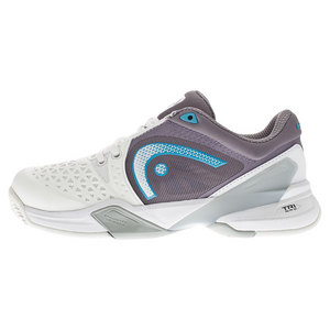 Women`s Revolt Pro Tennis Shoes White and Cyan Blue
