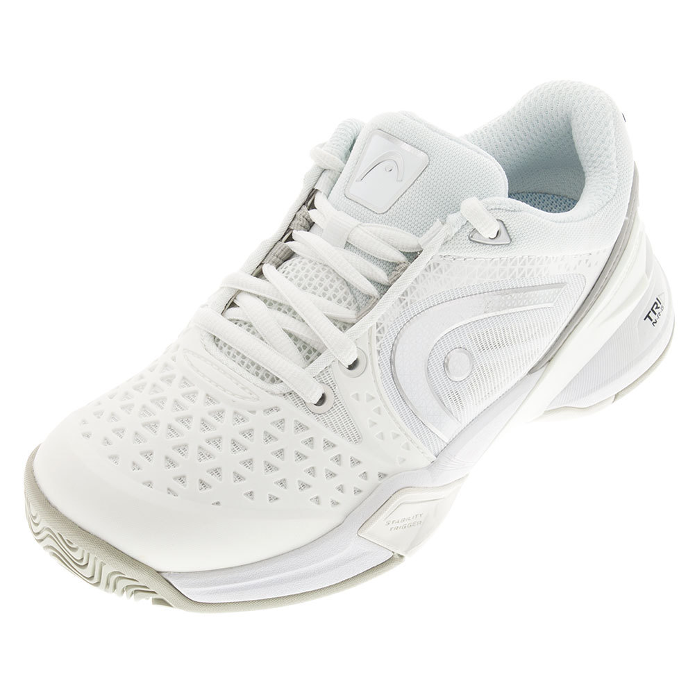 Women's Revolt Pro Tennis Shoes White And Silver