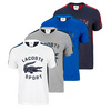 LACOSTE Men`s Short Sleeve Large Croc Graphic Tennis Tee