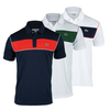 LACOSTE Men`s Sport Pique Ultra Dry Chest Stripe Polo