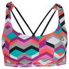 ELEVEN Women`s Perfect Sets Tennis Bra Ndebele Print