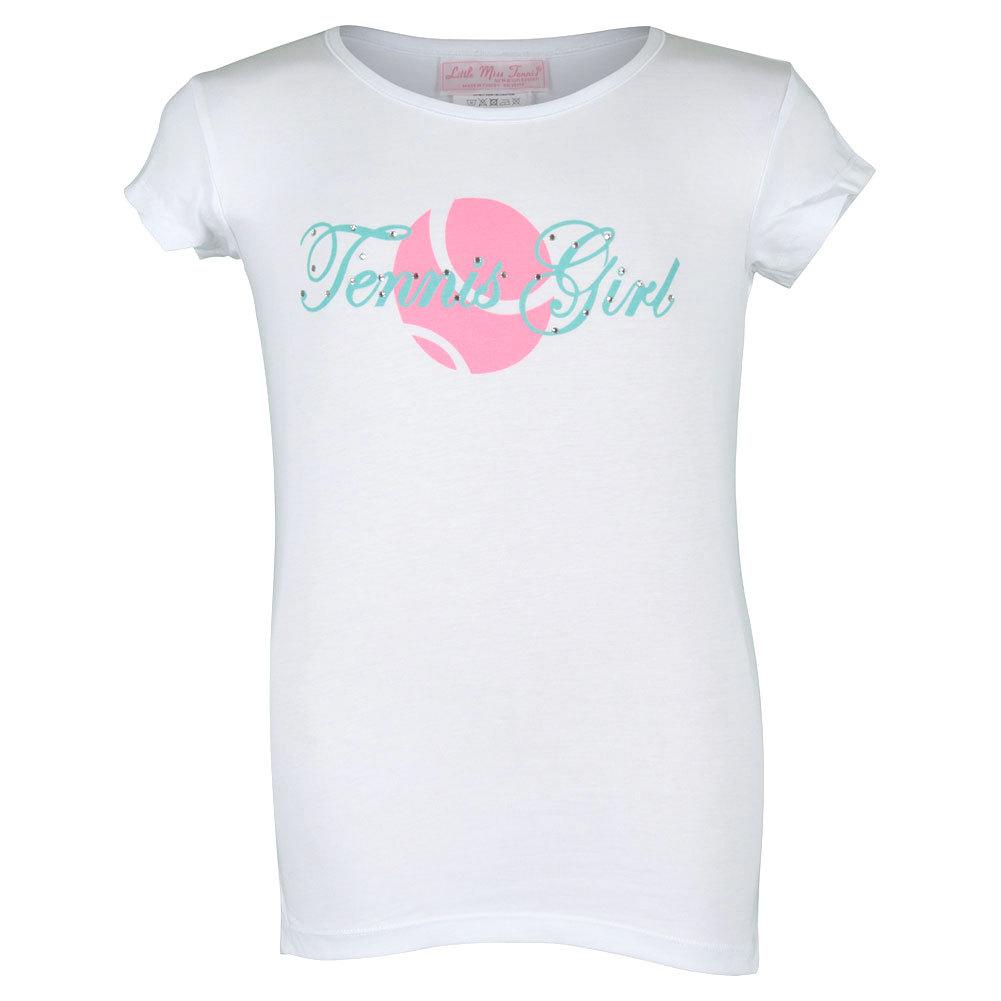 Girls ` Tennis Tee White