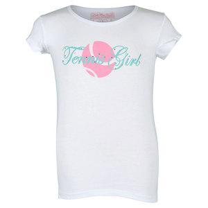 Girls` Tennis Tee White
