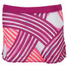 WILSON Girls` Watercolor Tennis Skort Fiesta Pink and Neon Red