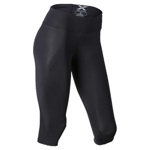 Women`s Mid Rise Compression 3/4 Tight Black