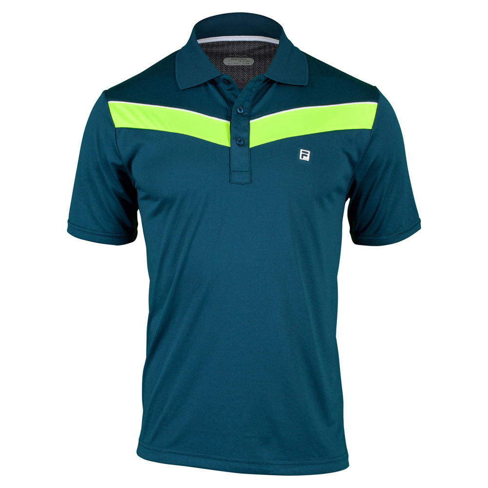 Men`s Suit Up Chevron Tennis Polo