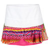 LUCKY IN LOVE Women`s Native Flounce Tennis Skort Print