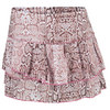 LUCKY IN LOVE Women`s Snake Pleated Tier Tennis Skort Print