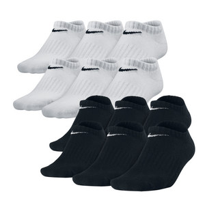 NIKE BOYS BANDED CTN NO SHOW MD SOCKS 6 PACK
