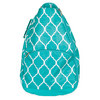 Turq Quatrefoil Tennis Backpack by ALL FOR COLOR