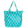 ALL FOR COLOR Turq Quatrefoil Tennis Tote