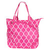 Pink Quatrefoil Tennis Tote by ALL FOR COLOR