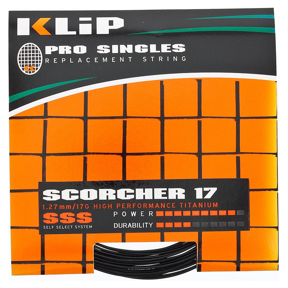 Scorcher Pro Single 17g Tennis String Black