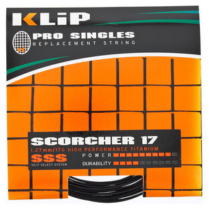 Scorcher Pro Single 17G Tennis String Black