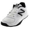 NEW BALANCE Men`s 696v2 D Width Tennis Shoes White and Black