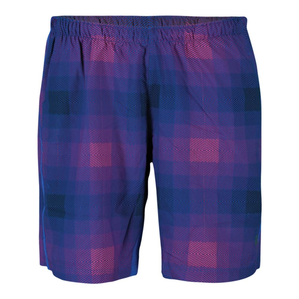 Boys ` Plaid Stretch Woven 8 Inch Tennis Short