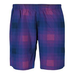 Boys` Plaid Stretch Woven 8 Inch Tennis Short