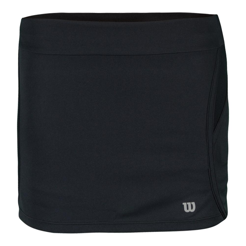 Girls'sporty 11 Inch Tennis Skort Black