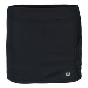 Girls` Sporty 11 Inch Tennis Skort Black