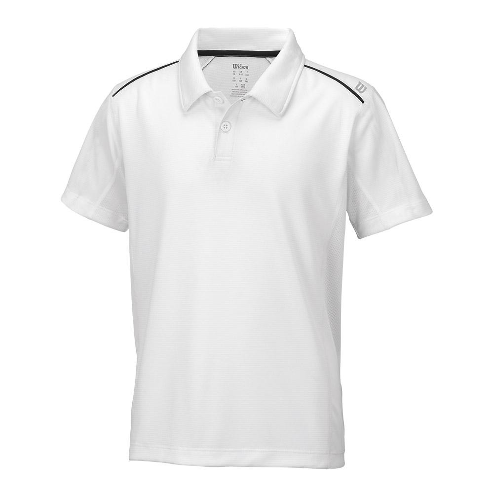 Boys ` Nvision Elite Tennis Polo White