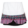 LUCKY IN LOVE Women`s Boho Beads Flounce Tennis Skort Print