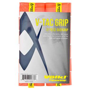 V Tac Tennis Overgrip 12 Pack Neon Orange