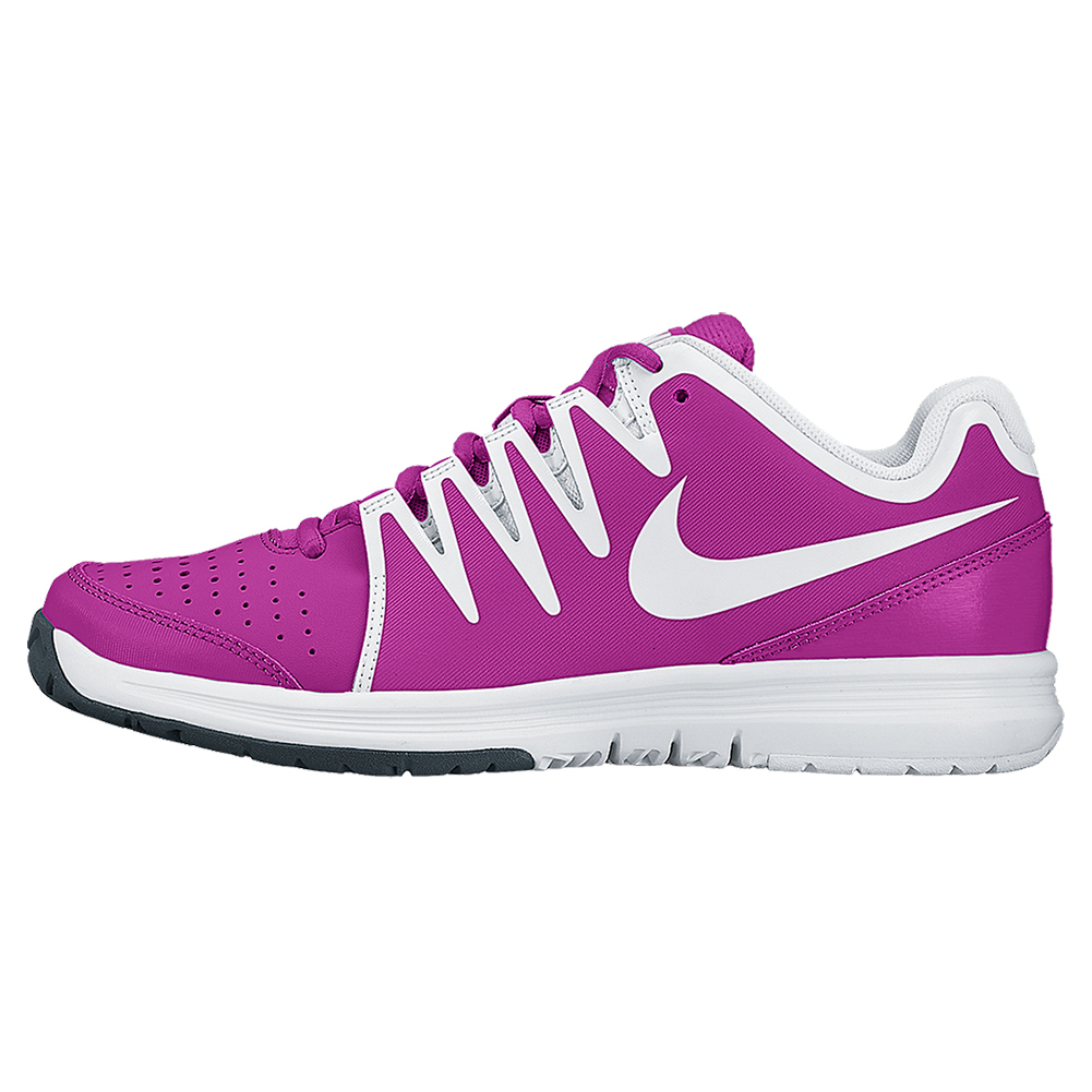 Women's Vapor Court Tennis Shoes Fuchsia Flash And White