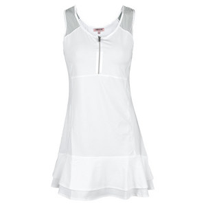 CHRISSIE BY TAIL WOMENS CONNIE TENNIS DRESS WHITE