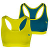 WILSON Women`s Reversible Tennis Bra Solar Lime and Ultramarine