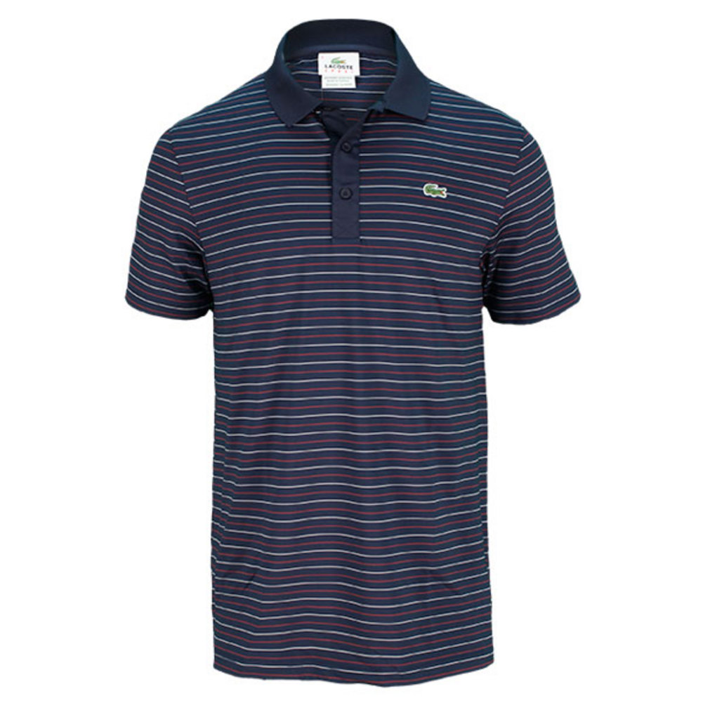 Men's Ultra Dry Fine Stripe Tennis Polo