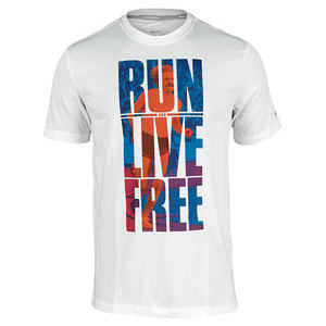 NIKE MENS RUN AND LIVE FREE SS GRAPHIC TEE