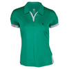 K-SWISS Women`s 66 Tennis Polo Dynasty Green and White