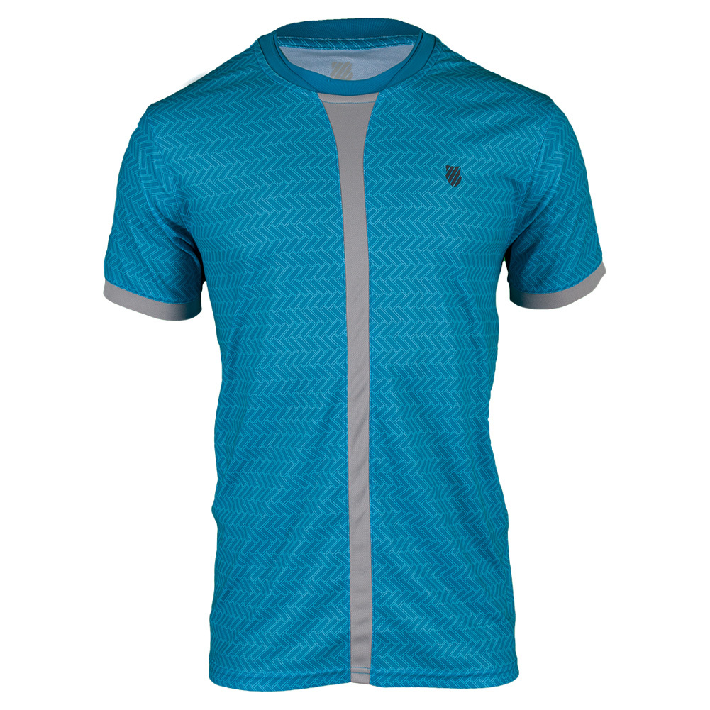 Men`s Hypercourt Tennis Crew Methyl Blue Print