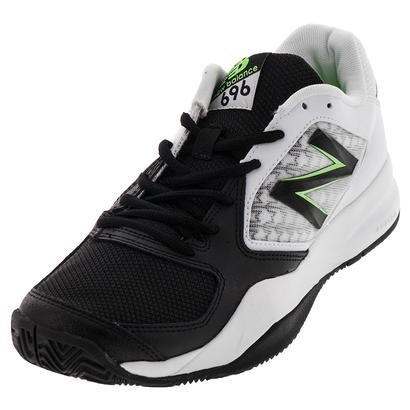 Men`s 696v2 D Width Tennis Shoes Black and Green