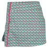 K-SWISS Women`s 66 Tennis Skort Gull Gray and Dynasty Green Print