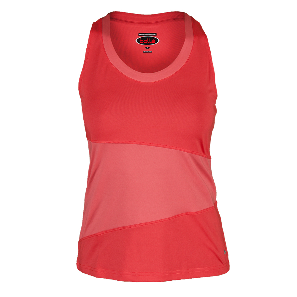 Women`s Special Effects Tennis Tank Cantaloupe and Peach