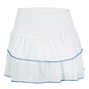 LUCKY IN LOVE Women`s Smocked Diamond Tier Tennis Skort White