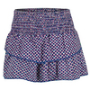 LUCKY IN LOVE Women`s Smocked Diamond Tier Tennis Skort Sapphire