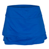 LUCKY IN LOVE Women`s Kick Back Tier Tennis Skort Sapphire