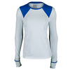 LUCKY IN LOVE Women`s Long Sleeve Tennis Crew White