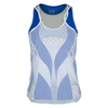 LUCKY IN LOVE Women`s Mesh Diamond Layer Tennis Tank Sapphire